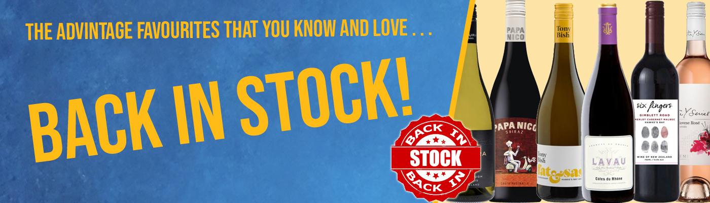 Back in stock header
