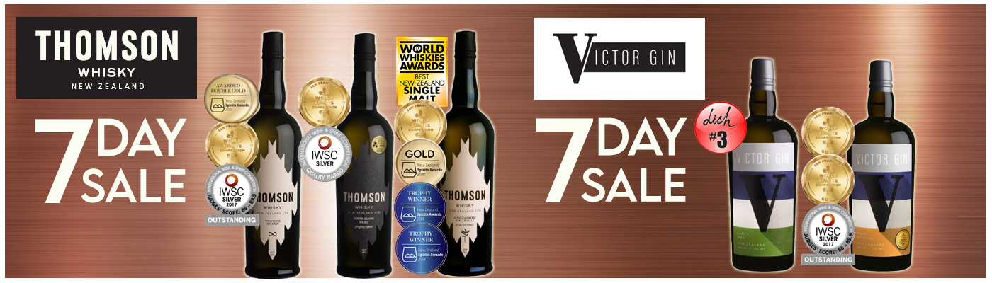 Thomson Whisky and Gin sale